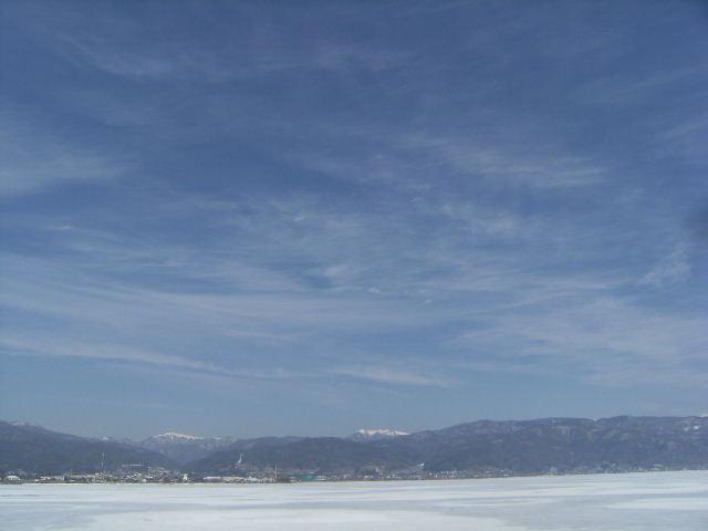 氷結諏訪湖