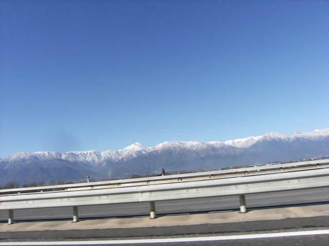 長野道からの北アルプス連峰